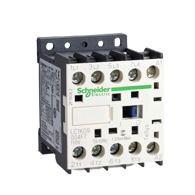 Schneider Electric LC1K09004P7 Contactor TeSys, LC1-K, 4P, 20 A, 440VAC-1, Bobina 230 VCA, 50/60 Hz