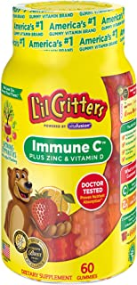 L'il Critters Gummy Vitamins, Immune C Plus Zinc & Vitamin D, 60 Count, Pack of 3 (Packaging May Vary)
