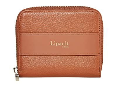 Lipault Paris Invitation Compact Zip Around Wallet (Caramel) Bags