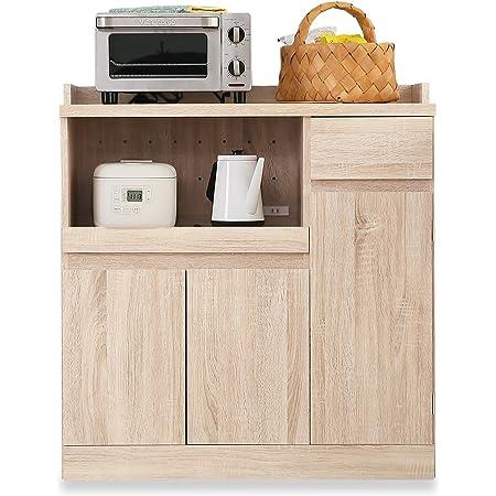 LOWYA ロウヤ キッチン収納 食器棚 チェスト レンジ台 Aタイプ 下段 ナチュラル