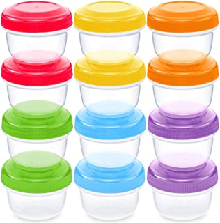 Best WeeSprout Leakproof Baby Food Storage | 12 Container Set | BPA Free Small Plastic Containers with Lids | Lock in Freshness, Nutrients, & Flavor | Freezer & Dishwasher Friendly | 4oz Snack Container Review