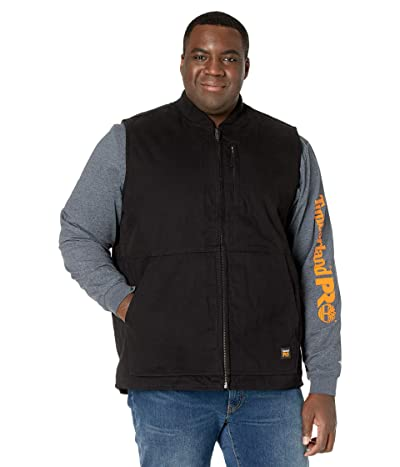 Timberland PRO Gritman Lined Canvas Vest Tall (Jet Black) Men