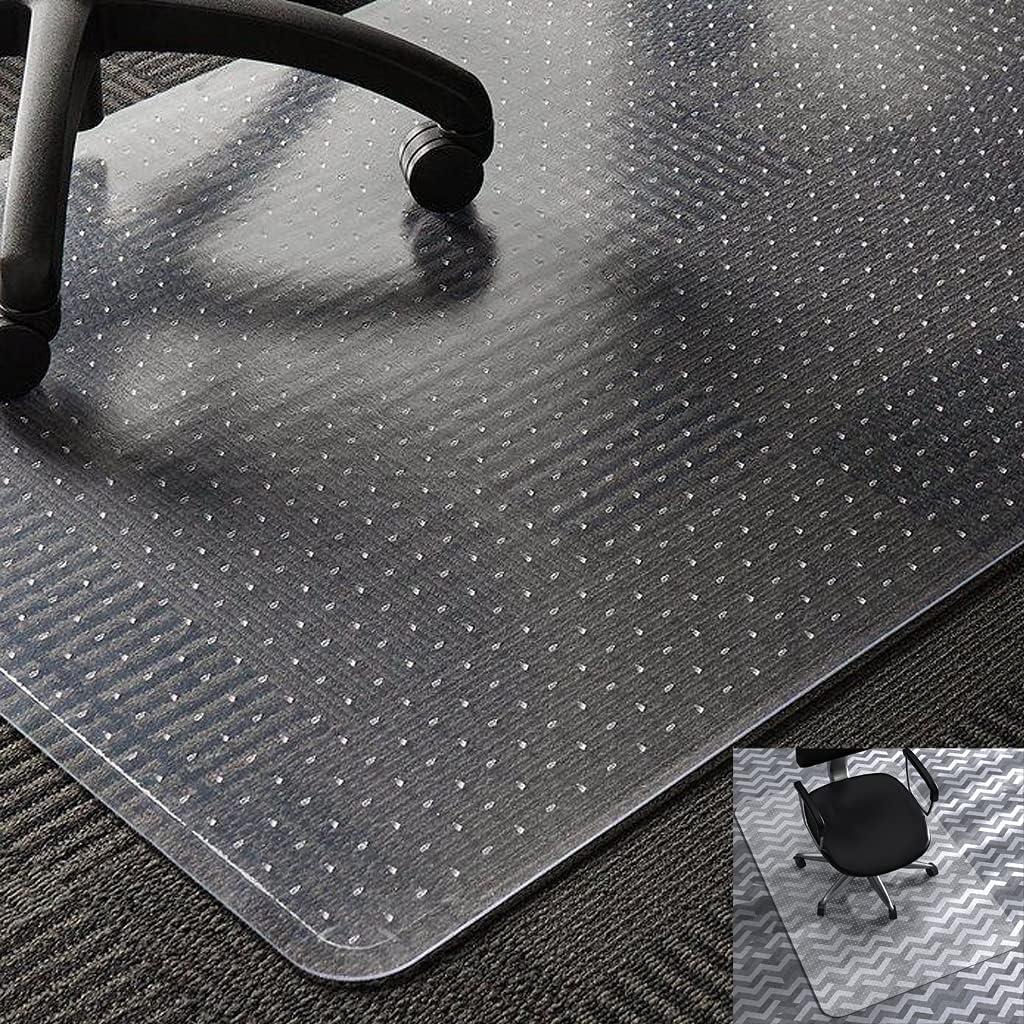 Office Max 51% OFF Chair Mat for Carpet Transparent PVC 35