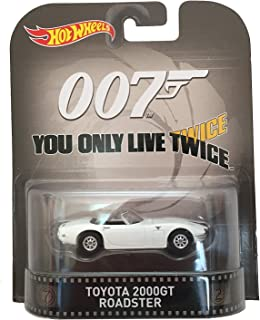 Hot Wheels Toyota 2000GT Roadster James Bond 007 You Only Live Twice 2015 Retro Series 1/64 Die Cast Vehicle