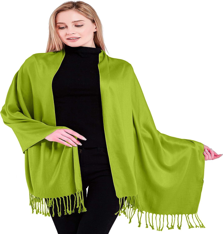 CJ Apparel Lima Verde (Nuevo) Diseño Sólido Color Chal Pashmina Abrigo de la Bufanda de la Estola Secondi NUEVO