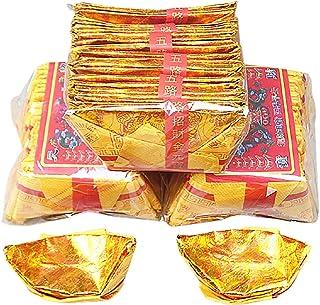 Ancestor Money - Lingotes Chinos De Oro Y Plata para 72 Piezas - Bring Good Luck Health Un SueñO Hecho Realidad - Suminist...