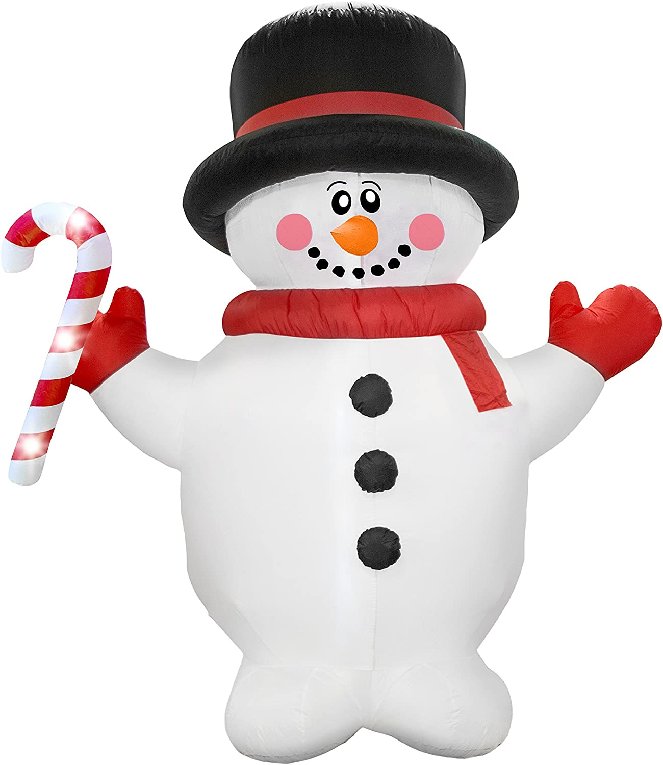 AirFormz AIR12510 Airblown Inflatable Holiday Yard Decoration, 7.5' Tall, Snowman
