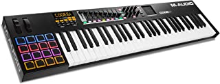 M-Audio Code 61 (Black) | USB MIDI Controller With 61-Key Velocity Sensitive Keybed, X/Y Pad, 16 Velocity Sensitive Trigger Pads & A Full-Consignment of Production/Performance Ready Controls