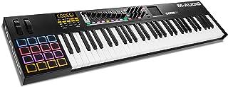 M-Audio Code 61 - Teclado controlador MIDI USB con 61 teclas, 16 pads X/Y asignables y controles para la producción e interpretación, VIP 3 y paquete de software incluido, color negro (black)