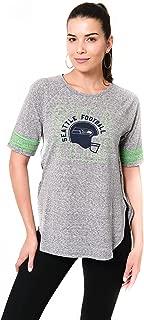 Ultra Game NFL Women's T-Shirt Vintage Stripe Soft Modal Tee Shirt