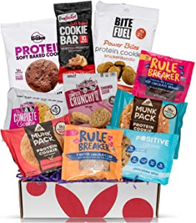 High Protein Cookies Variety Pack : 10 High Protein Cookies Individually Wrapped - Perfect Healthy Cookies Sampler Cookies...