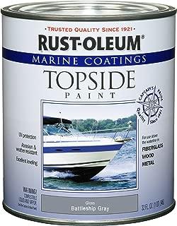 Rust-Oleum Not Available 207005 Marine Topside Paint, Battleship Gray, 1-Quart