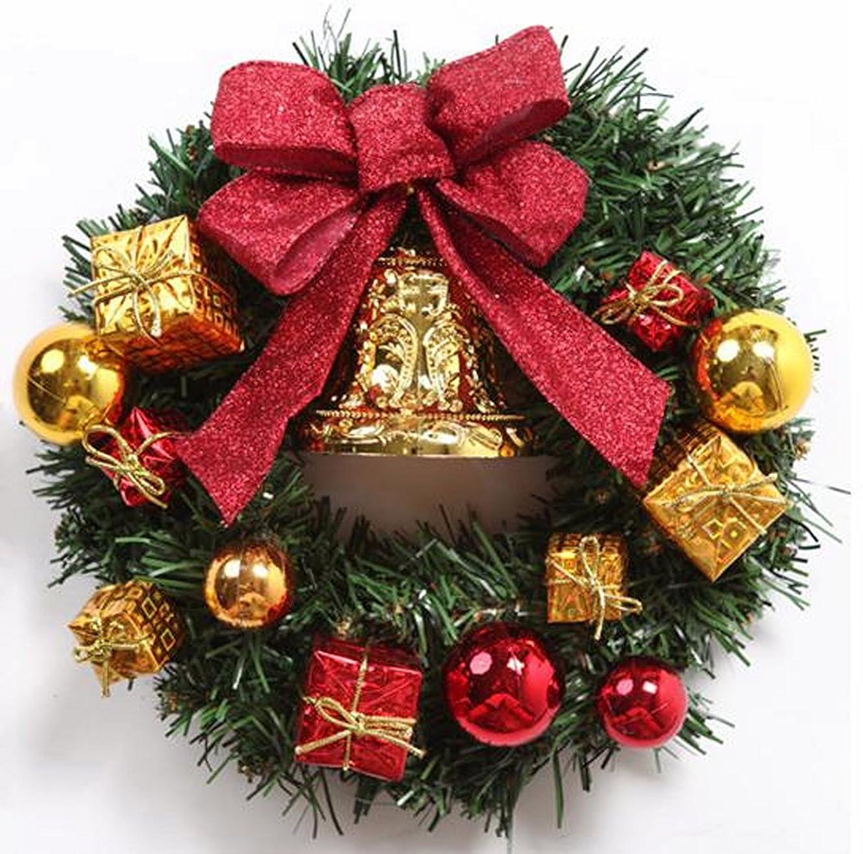 あいにく講師華氏クリスマス リース 玄関 ドア ゴージャス かわいい 選べる 3種類 ゴールド レッド パウダースノー (2 レッド)