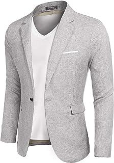 MAXMODA Men's Jacket Linen Structure Slim Fit Men's Blazer Modern Leisure Lightweight Jacket