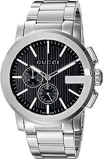 Gucci Analog Display Swiss Quartz Silver Men's Watch(Model:YA101204)
