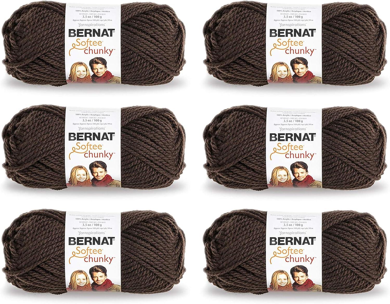 Bernat Softee Chunky Yarn 6-Pack Taupe Dark 161128-28013 Long Ranking integrated 1st place Beach Mall