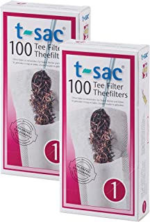 T-Sac Tea Filter Bags, Disposable Tea Infuser, Number 1-Size, 1-Cup Capacity, Set of 200