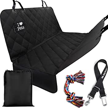 Starling's Dog Car Seat Covers - Pet Backseat Hammock Style Heavy Duty Waterproof Scratch Proof Nonslip Durable Pets Car Seat Cover for Cars Trucks and SUVs