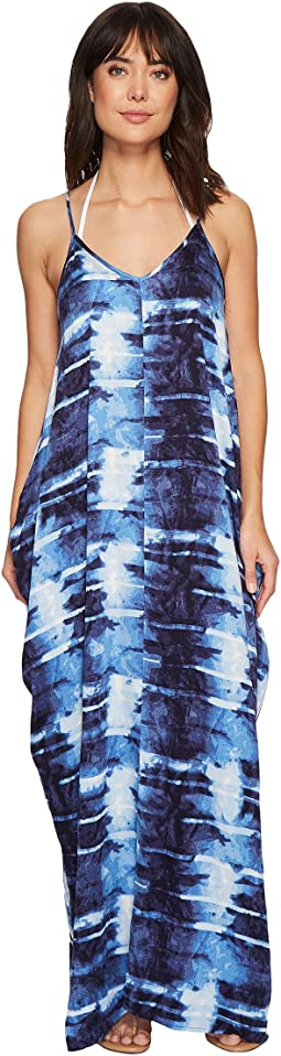 Green Dragon - Shibori Sateen Tulum Tank Maxi