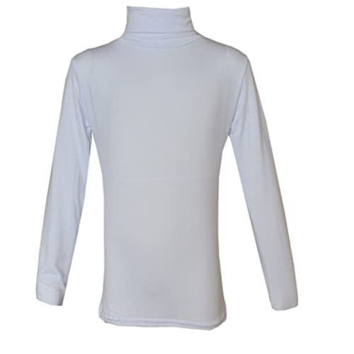 KIDS BOYS GIRLS POLO NECK JUMPER TOP ROLL NECK LONG SLEEVED TOPS 5-13 YEARS