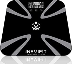 INEVIFIT Body Fat Scale, Highly Accurate Digital Bathroom Body Composition Analyzer, Measures Weight, Body Fat, Water, Muscle, BMI, Visceral Levels & Bone Mass for 10 Users. 5-Year Warranty