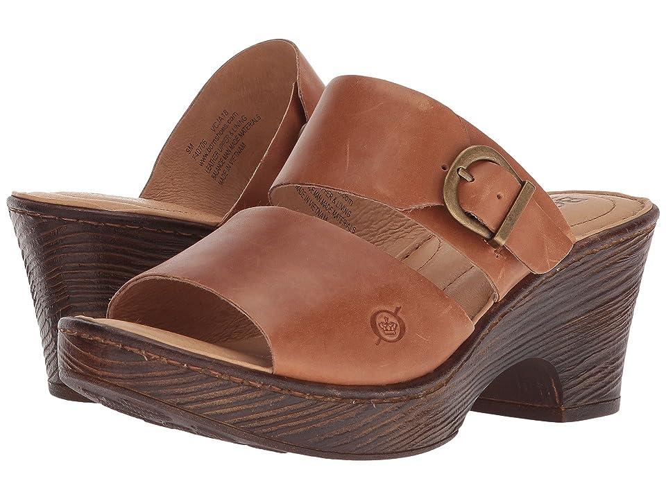 Born Carrabelle (Brown Full Grain Leather) Women