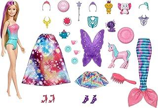 Barbie Dreamtopia Adventskalender: Blonde Barbiepop, 3 sprookjesachtige popmode, 10 accessoires en 10 verhalen vertellen s...
