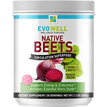 Evowell Native Beets, Circulation Superfood, Supports Energy and Endurance, 7.1 Ounce