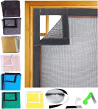 SAI PRASEEDA Fibreglass Mosquito Net For Windows 47 x 47 Inch_120 x 120 Cm_4 x 4 Feet BLACK Color With Adhesive Hook And L...