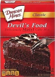 Duncan Hines Classic Devils Food Cake Mix, 15.25 Ounce -- 12 per case.