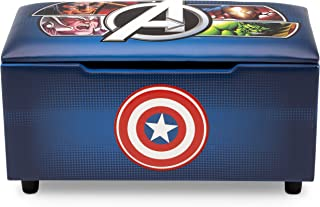 Marvel Avengers Upholstered Storage Bench for Kids | Perfect for Bedrooms/Playrooms/Living Rooms | Features Fun Graphics of Hulk, Iron Man, Captain America, Thor