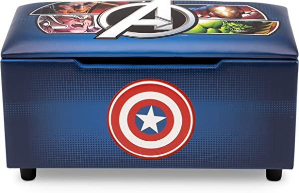 Marvel Avengers Upholstered Storage Bench For Kids Perfect For Bedrooms Playrooms Living Rooms Features Fun Graphics Of Hulk Iron Man Captain America Thor