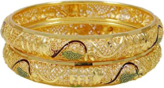 Indian Goldplated Wedding Party Wear Bracelets Traditional Bangle Jewelry