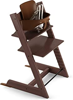 Stokke 2019 Tripp Trapp High Chair, Includes Baby Set, Walnut Brown