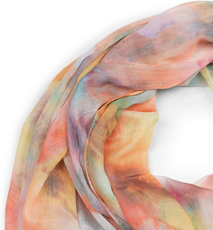 foulard 01016185 styleBREAKER sciarpa da donna con motivo sfumato in stile acquarello e frange