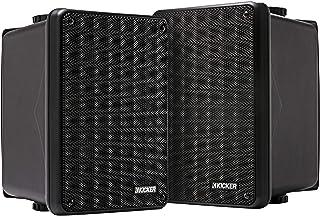 KICKER KB6 2-Way Full Range Indoor Outdoor Speakers (Pair)   Weatherproof Speakers for Patio Sunroom Garage Poolside in-Ho...