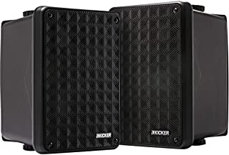 Best KICKER KB6 2-Way Full Range Indoor Outdoor Speakers (Pair) | Weatherproof Speakers for Patio Sunroom Garage Poolside in-Home | 6.5 inch woofer, 2x5 inch Horn Tweeter | Quick Mounting System Review