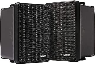 Kicker KB6 2-Way Full Range Indoor Outdoor Speakers (Pair) | Weatherproof Speakers for Patio Sunroom Garage Poolside in-Home | 6.5 inch woofer, 2x5 inch Horn Tweeter | Quick Mounting System