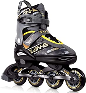 KOVEBBLE Inline Skates for Kids and Adults, Adjustable Blades Roller Skates for Girls, Boys and Teens, Roller Shoes for Wo...