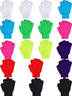 Sumind 18 Pairs Magic Winter Gloves Warm Knitted Gloves for Toddler Children Winter Gloves for 6 to 12 Kids