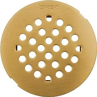 Moen 101663BG Kingsley 4-1/4-Inch Snap-In Shower Drain Cover, Brushed Gold