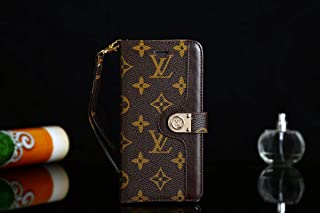 Phone Case for Galaxy Note 9, Vintage Luxury Designer Monogram Splicing Style Flip Wallet Case with Card Holder, Folding Stand Protective Cover for Note 9