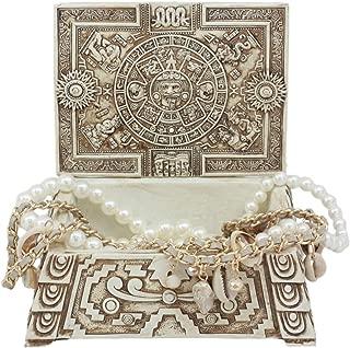 Ebros Gift Mexica Aztec Maya Solar Sun Gods and Goddesses Mesoamerican Calendar Jewelry Treasure Trinket Jewelry Box Figurine