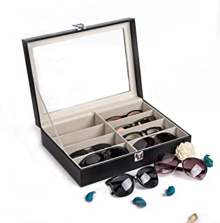 CO-Z Leather Multi Sunglasses Organizer for Women Men,...