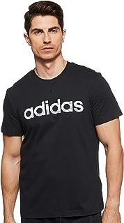 adidas Men's E CAMO LIN T-Shirt, Black (Black/white/grey One F17/grey Three F17)