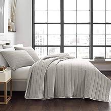 City Scene Pascal 100% Cotton-Quilt Set, King, Grey