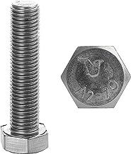FASTON Zeskantschroeven M8 x 35 roestvrij staal A2 V2A (20 stuks) DIN 933 schroefdraadschroeven zeskant schroeven machines...