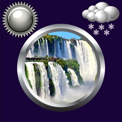 Wasserfall Uhr Wetter Widget