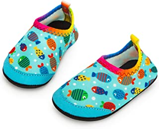 Apolter Baby Boys and Girls Swim Water Shoes Barefoot Aqua Socks Non-Slip for Beach Pool