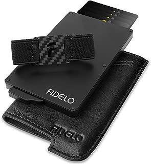 Minimalist Wallet for Men - Slim Credit Card Holder RFID Mens Wallets and Leather Case